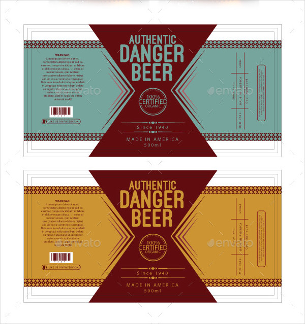 Free Online Beer Label Maker: Design a Custom Beer Label Canva