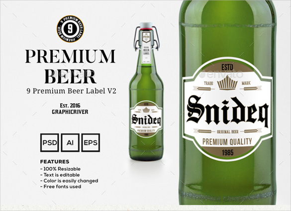 27+ Beer Label Templates – Free Sample, Example Format Download