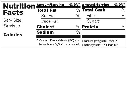 Nutrition Label Blank Ftempo Inspiration | templates | Pinterest