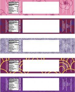 4 Designer | Creative number label design vector material 04