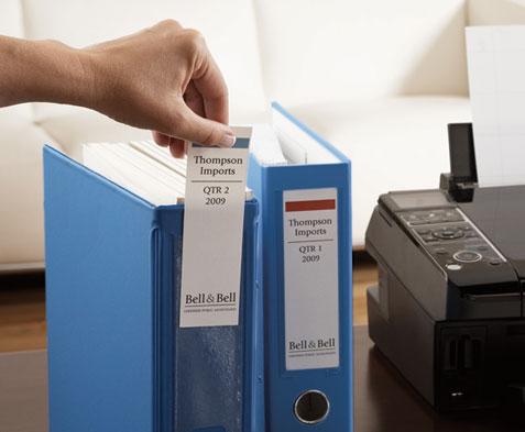 Free 1 1/2 Inch Shelf/Bin Label Holder Printer Template – INL1500