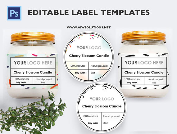 candle label soy wax label label template Skin Care label