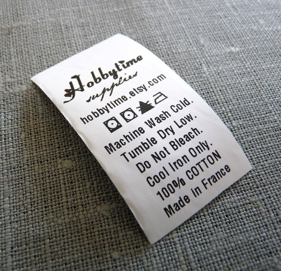 Custom Care Labels 1″ White Polyamide | Ikaprint