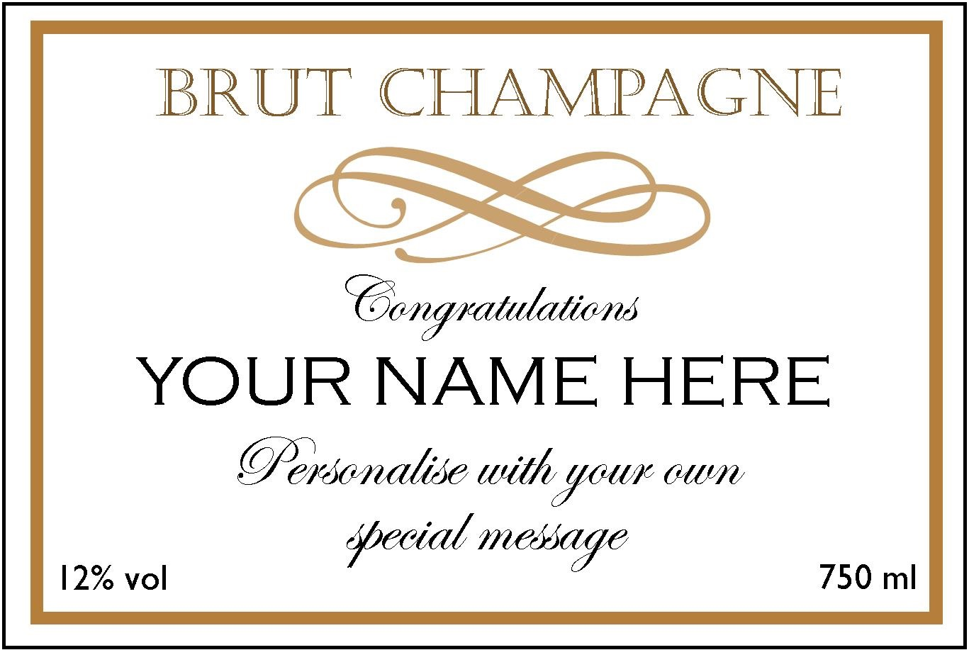 Customised Champagne | Luxury Champagne gifts | Custom Label | The