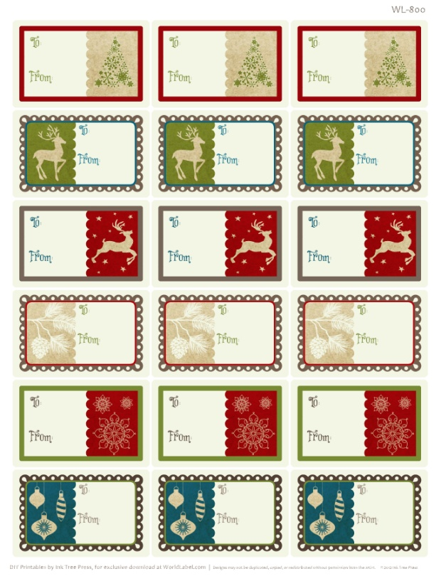 Christmas Labels Ready to Print! | Worldlabel Blog