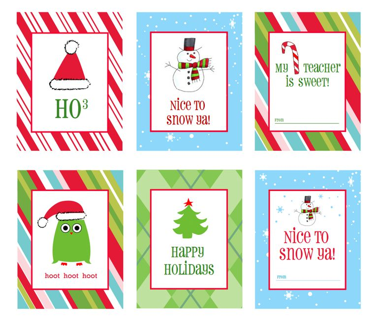 7 Images of Free Printable Christmas Labels | etikety | Pinterest
