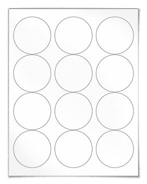 Circle Labels, Circular Sticker Labels | SheetLabels.com®
