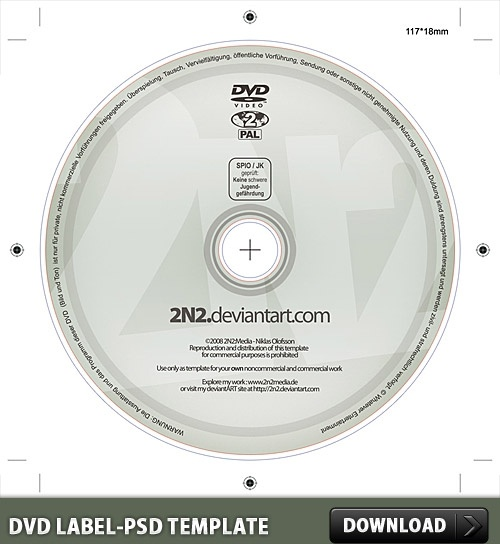 DVD Label Free PSD Template Free psd in Photoshop psd ( .psd