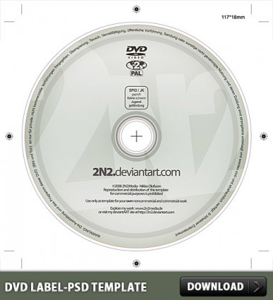 DVD Label Free PSD Template   free psd   UI Download