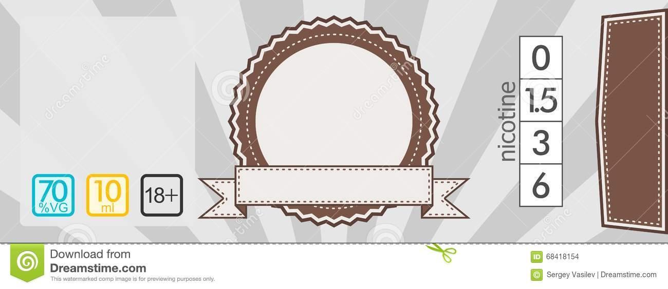 E liquid Sticker Label Template Stock Illustration Image: 68418154