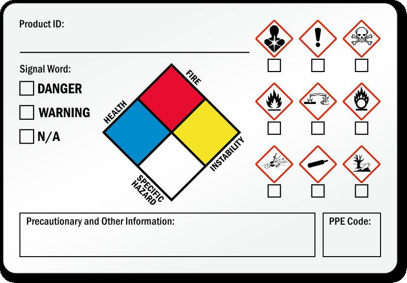 Special Precautionary Information GHS Secondary Label, SKU: LB 2915