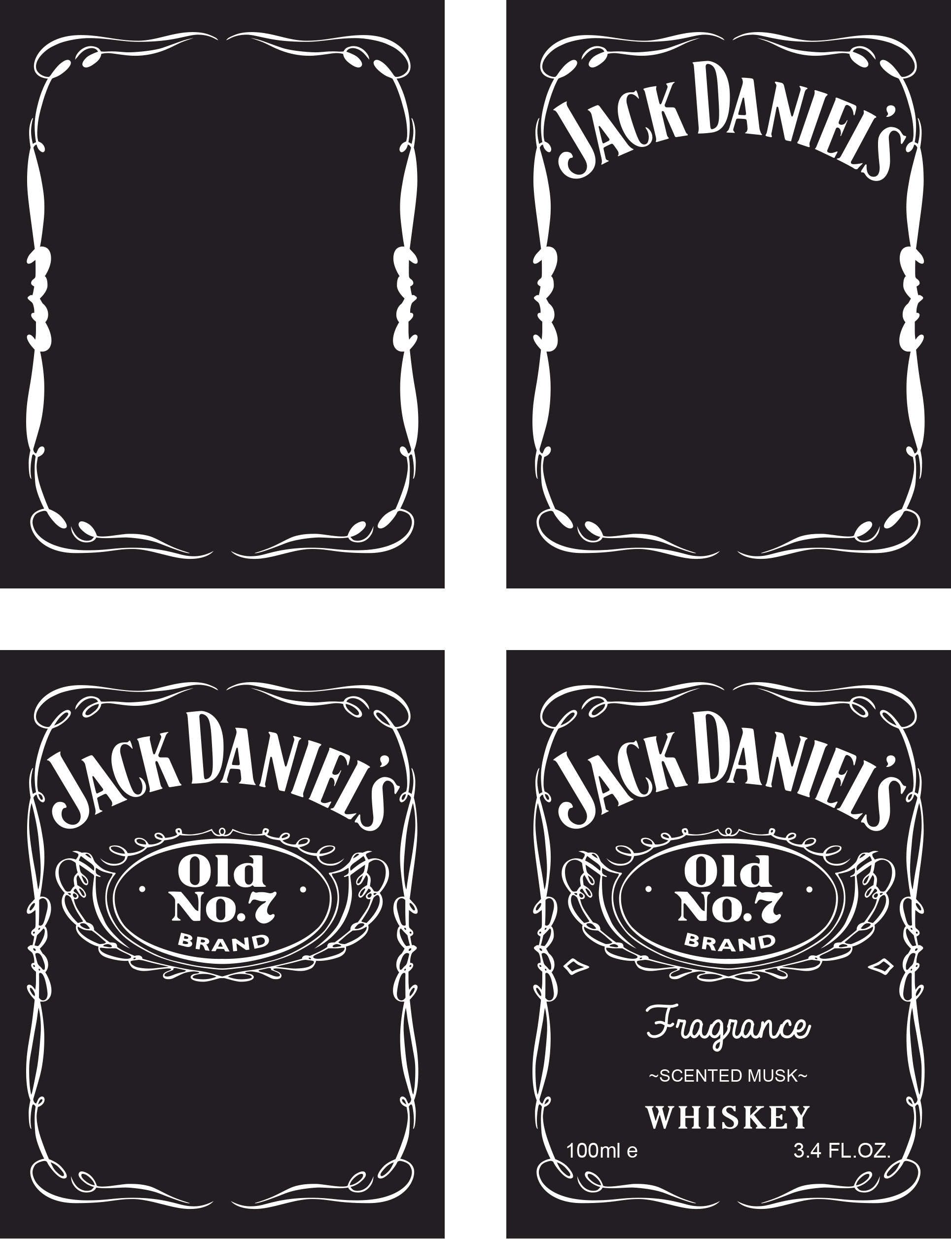 jack daniels label template generator printable label templates. Black Bedroom Furniture Sets. Home Design Ideas