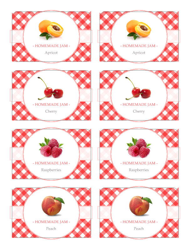 Great British Summer Apricot Jam Jar Labels. You can edit and use