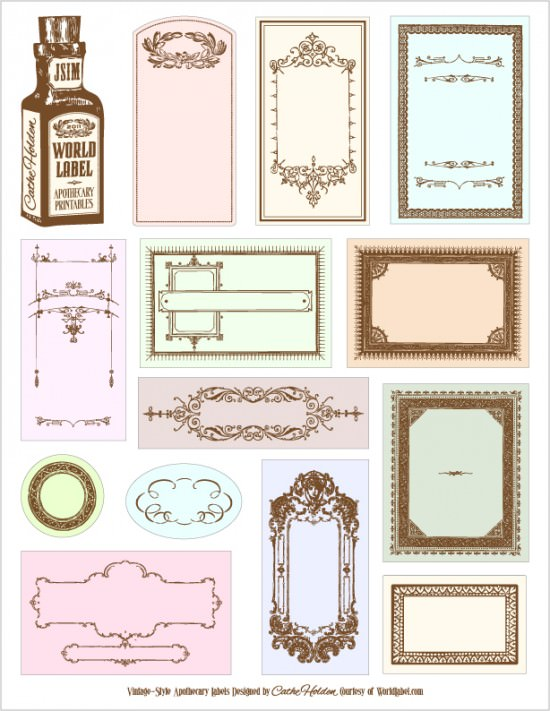 Labels for Storage Bins, Bags and Baskets In My Own Style