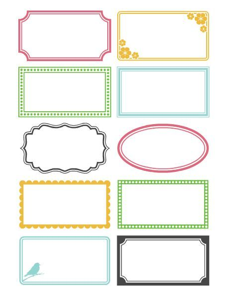 Free Printable Gluten Free Ingredient Labels + Blank Labels