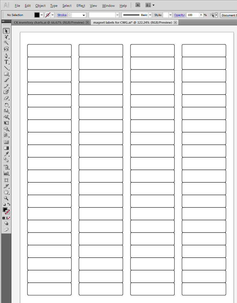 How to make sequential, coded labels with Excel & Illustrator