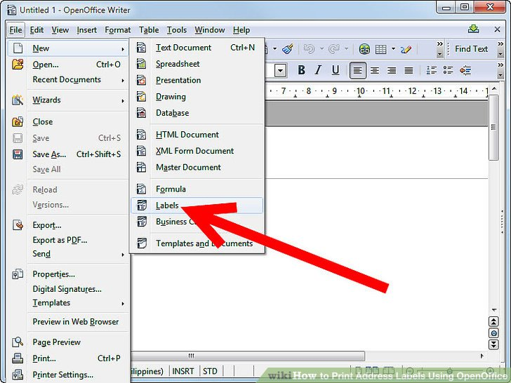 How to Print Address Labels Using OpenOffice (with Pictures)