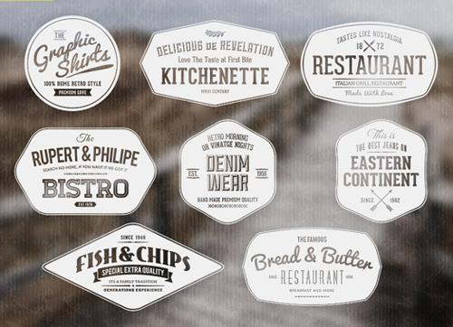 Label templates vector » Photoshop Tools