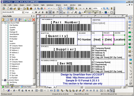 AIAG shipping labels, AIAG Label Templates,Download,Free,Software