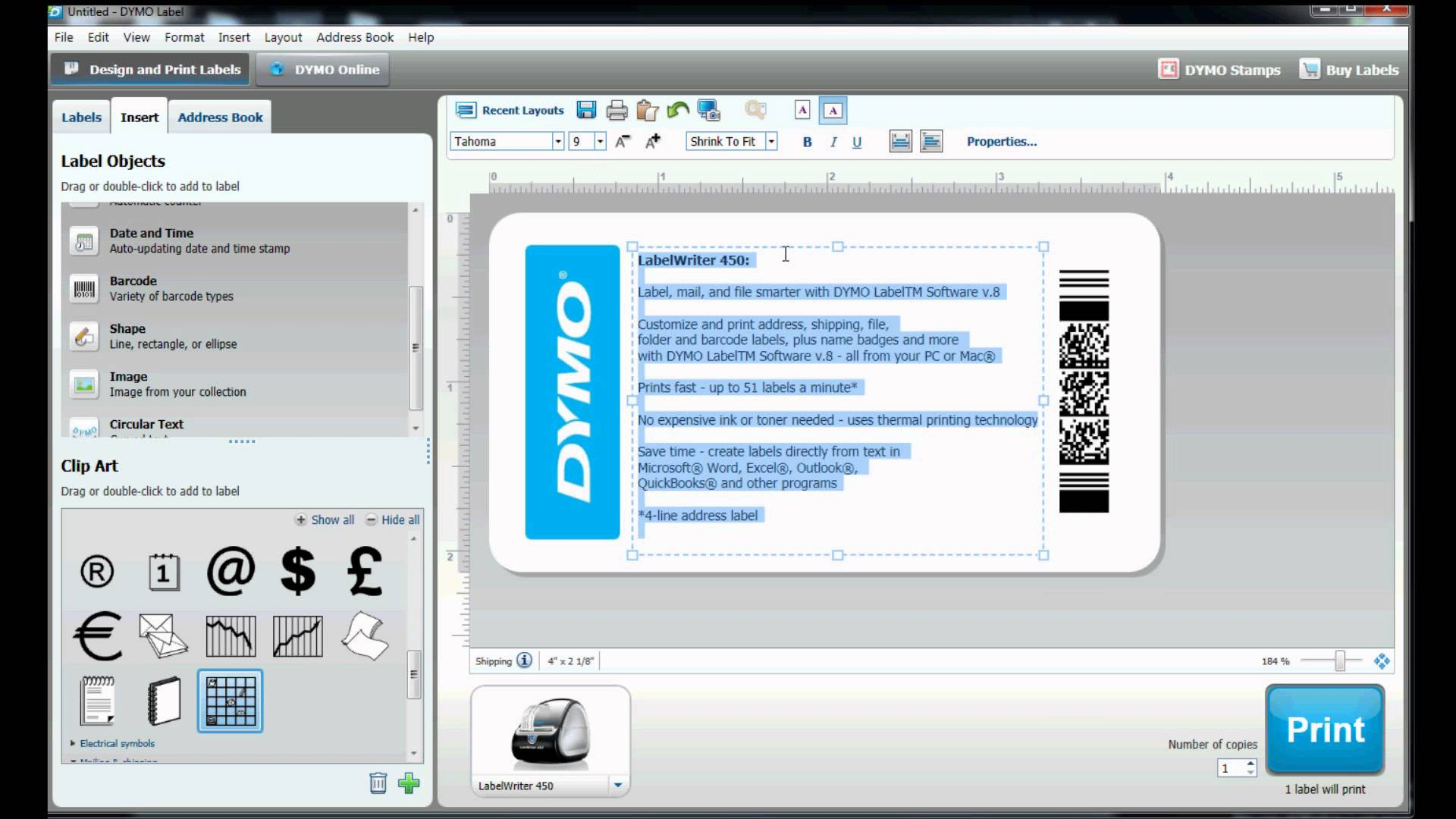 How to build your own label template in DYMO Label Software? YouTube