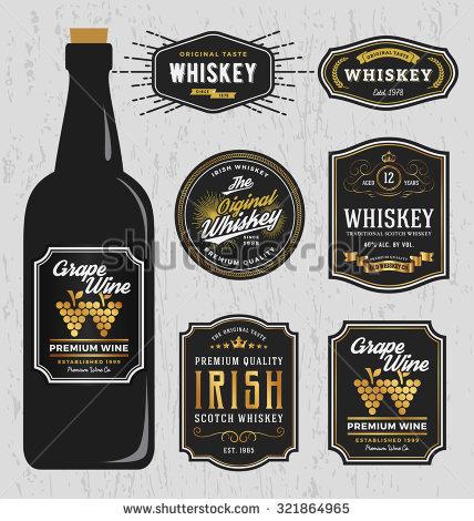 Bottle Label Stock Images, Royalty Free Images & Vectors