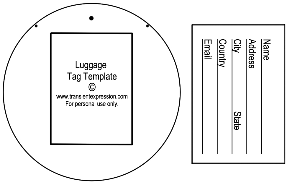 Luggage Tag Template Clipart (43+)