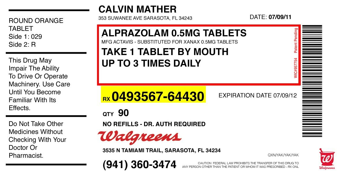 Medicine label template printable label templates for Medicine prescription template