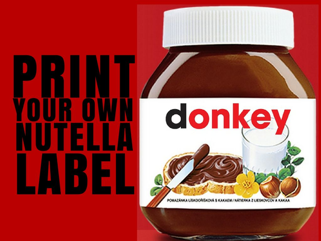 Print Your Own Nutella Label | Croatia Travel Blog Chasing the