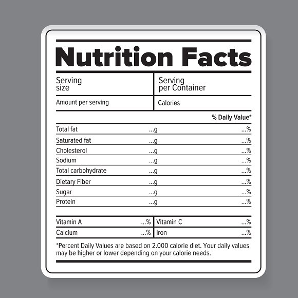 Nutrition label template printable label templates for Supplement facts template