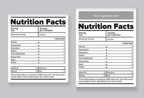 nutrition label template word