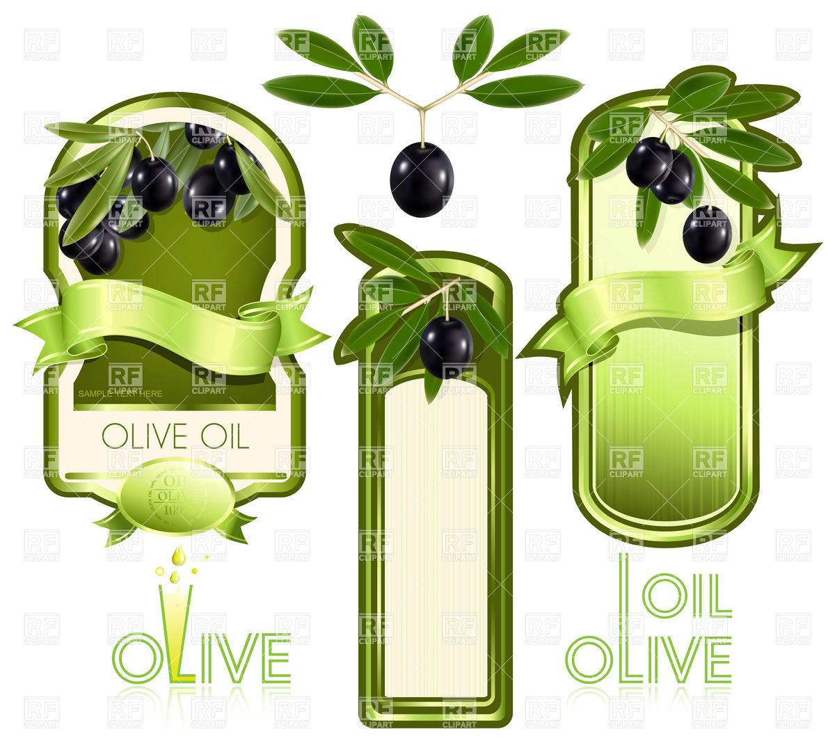Blank template of label for olive oil Vector Clipart Image #5250