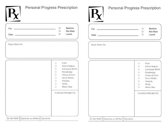 prescription label template download