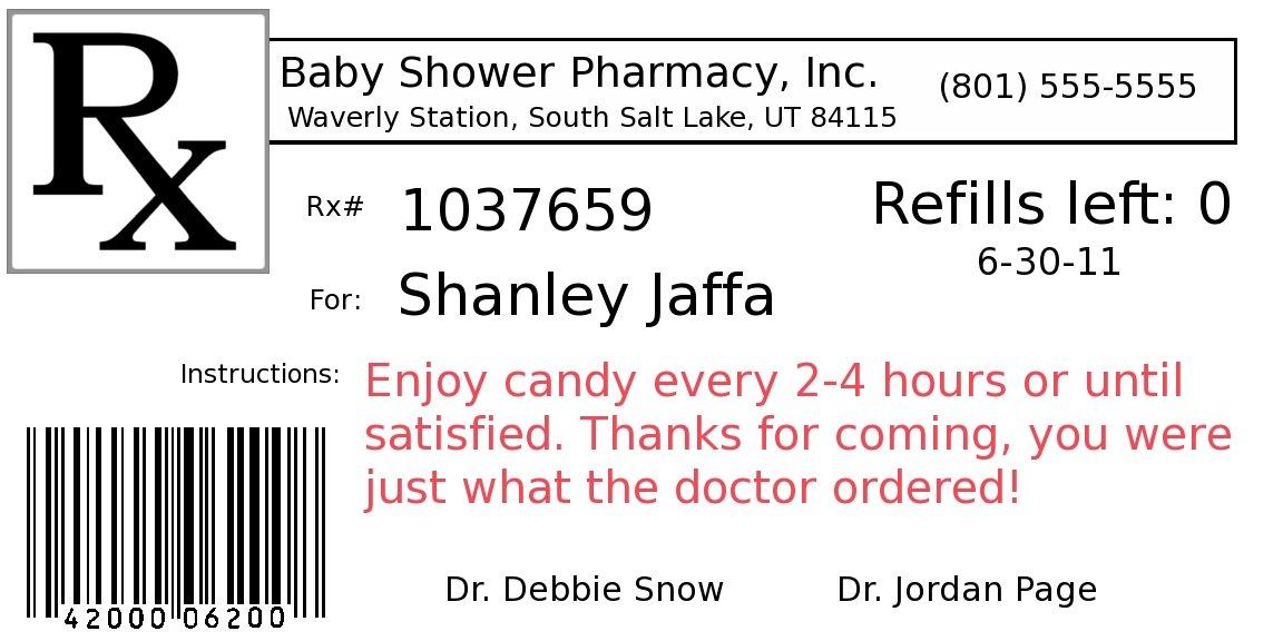 Prescription Label Template | Template Design