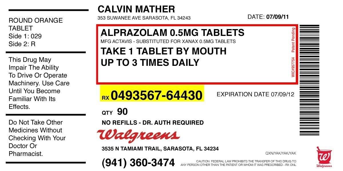Prescription Label Template | Template Business
