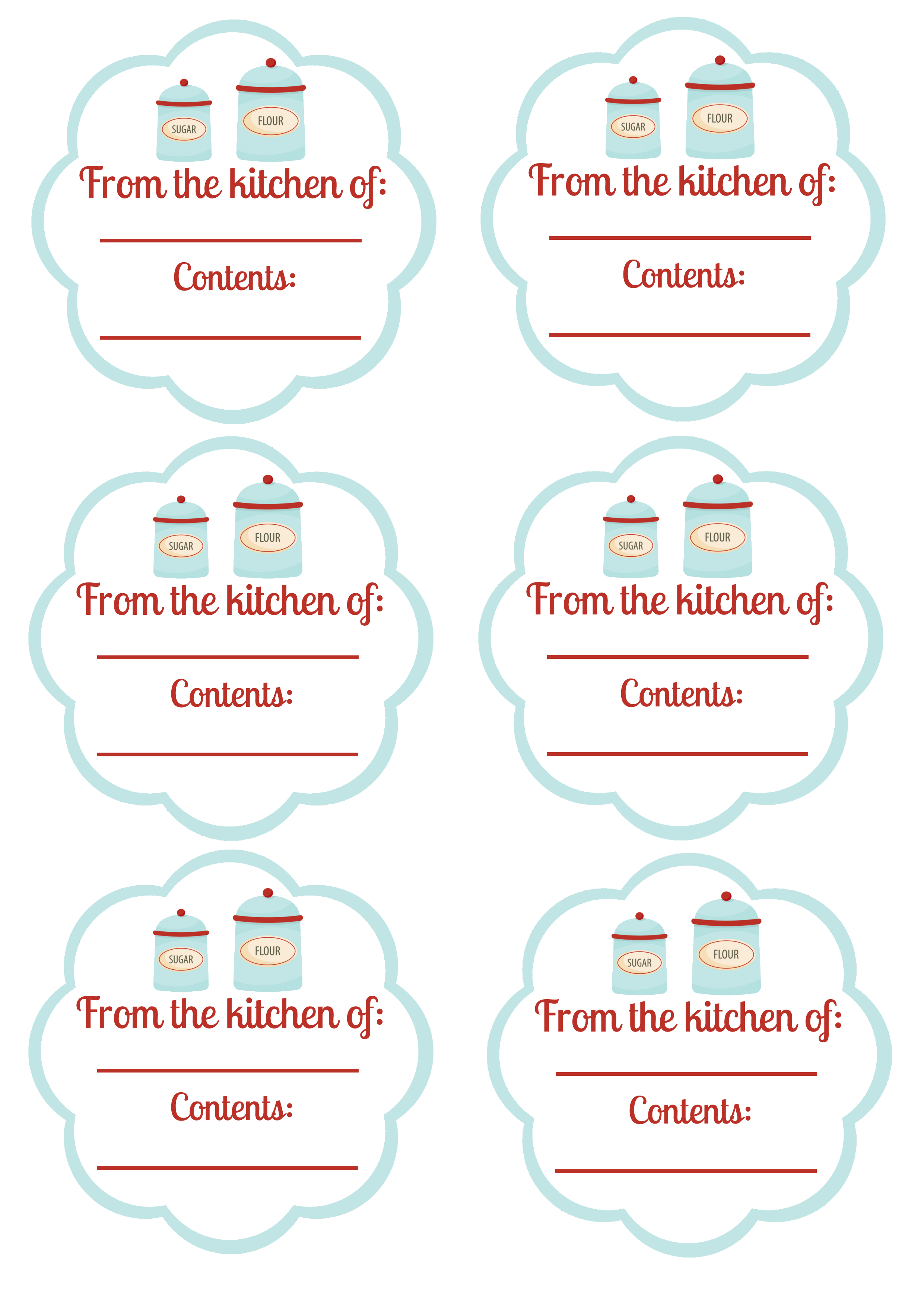 Free Printable Food Labels and Canning Labels | Blissfully Domestic