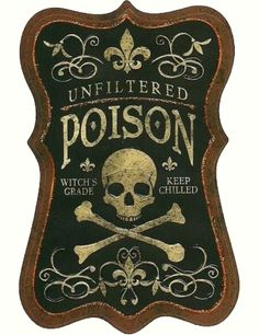 Vintage Poison Labels | Call Me Victorian