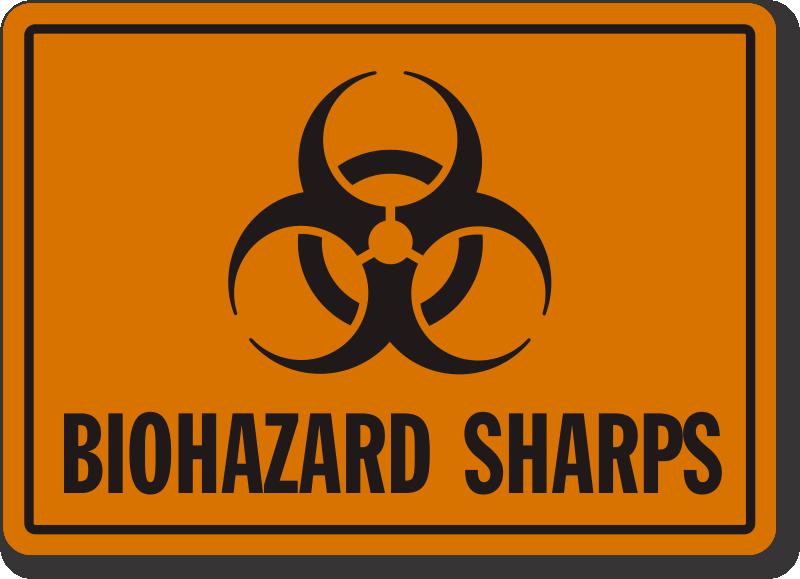 Sharps Warning Labels and Signs Biohazard Sharps Waste Disposal