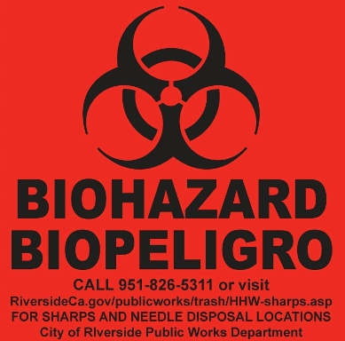Safe Sharps Disposal Label (for garbage container) | THE