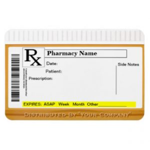 Fake Rx Label Template Printable Templates For Medication Labels