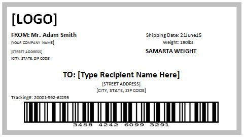 10+ Free Template For Shipping Label | Free Printables!!