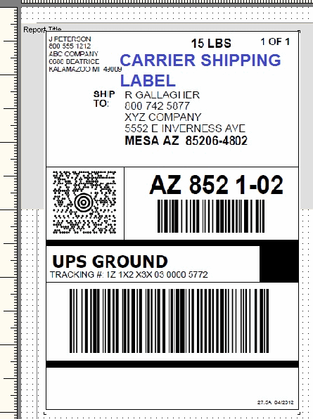 Shipping Label Template Templates for Microsoft® Word