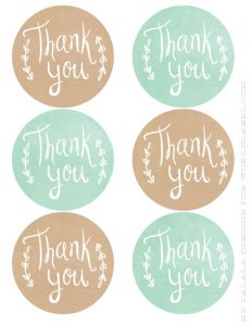 Thank You Label Template  Free Label Templates Download