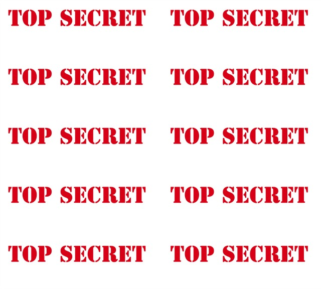 free detective printables | printable top secret signs in