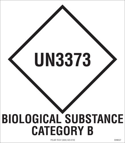 UN3373, hazard diamond label | HW2200 | Label Source