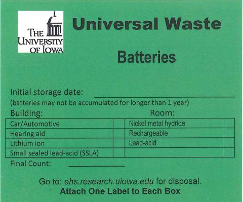 Waste Label Templates: Chemical Waste: Waste Management: Topics