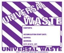 Brady Part: 60362 | UNIVERSAL WASTE Hazardous Waste Labels