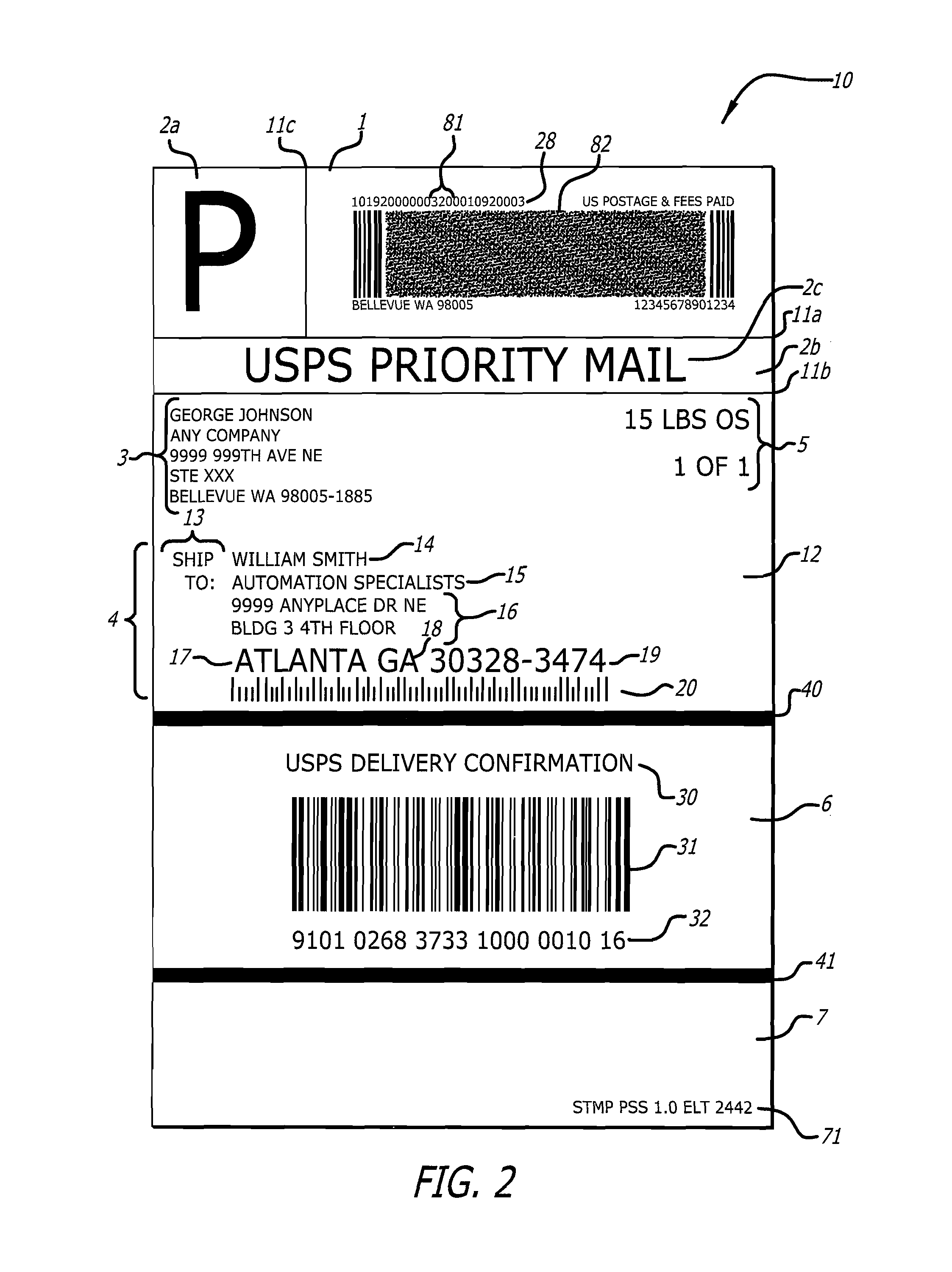 Patent US8768857 Postal shipping label Google Patents