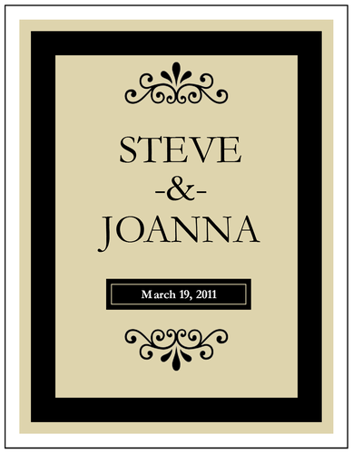Editable Label .PDF great for making custom wine bottle labels and