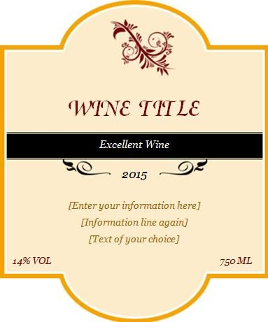 Wine Bottle Label Templates Download Wine Bottle Label Designs