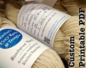 Custom Yarn Labels Custom Label Band Tag Small Business